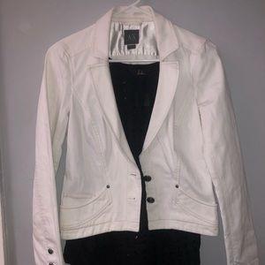 Armani exchange vintage white jean jacket